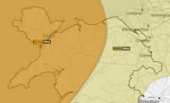 Amber wind warning issued for parts of North Wales