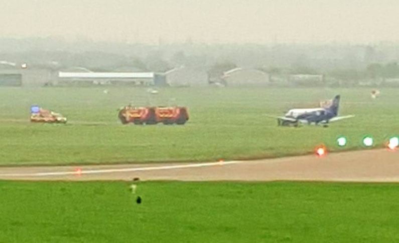 Fire and ambulance services called to Hawarden airport after aircraft declares emergency
