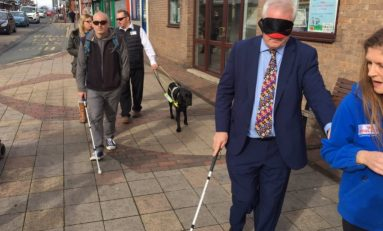 Blindfold walk proved to be a real eye-opener for Alyn & Deeside MP Mark Tami