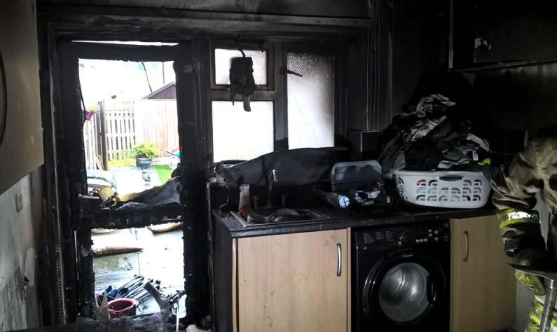North Wales Firefighters issue warning after 'firework lit inside house' destroys kitchen