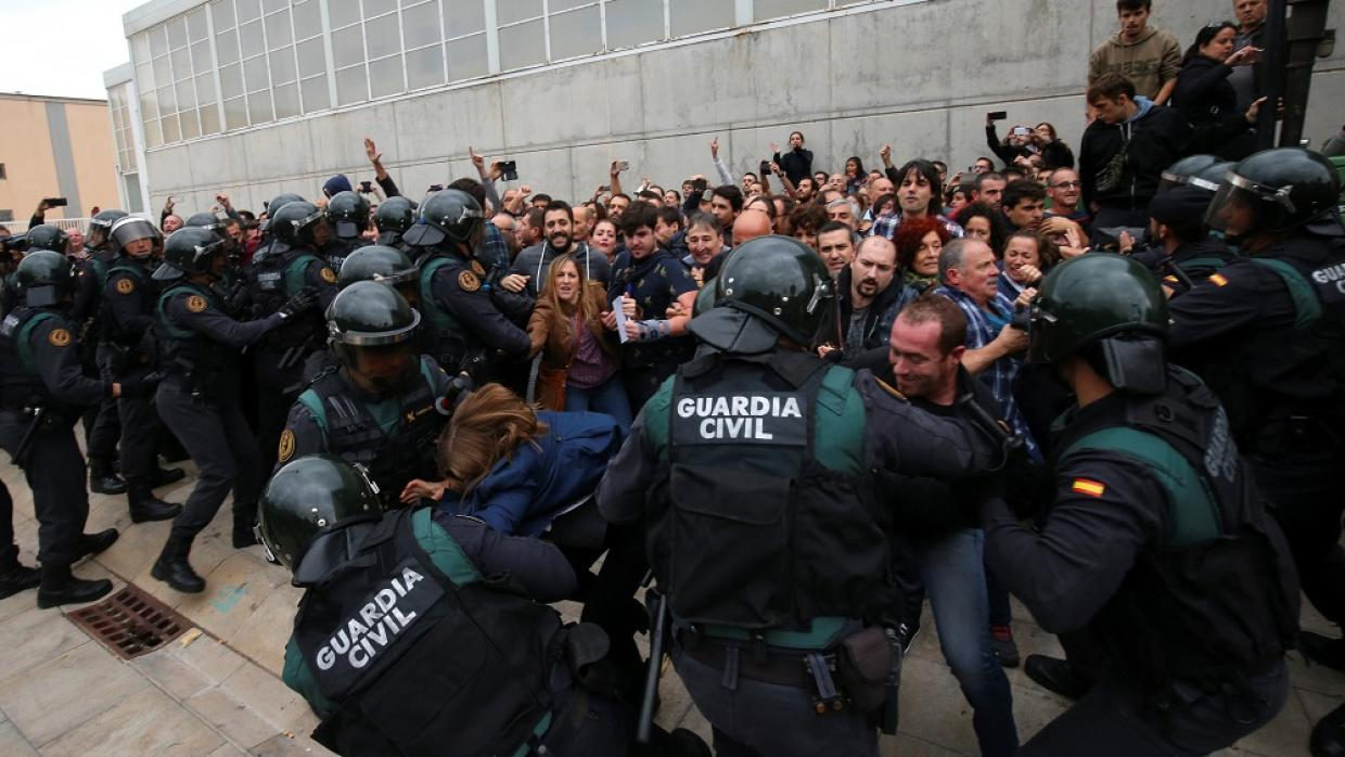 North Wales Police and Crime Commissioner complains to Spain over brutal violence during Catalan vote.