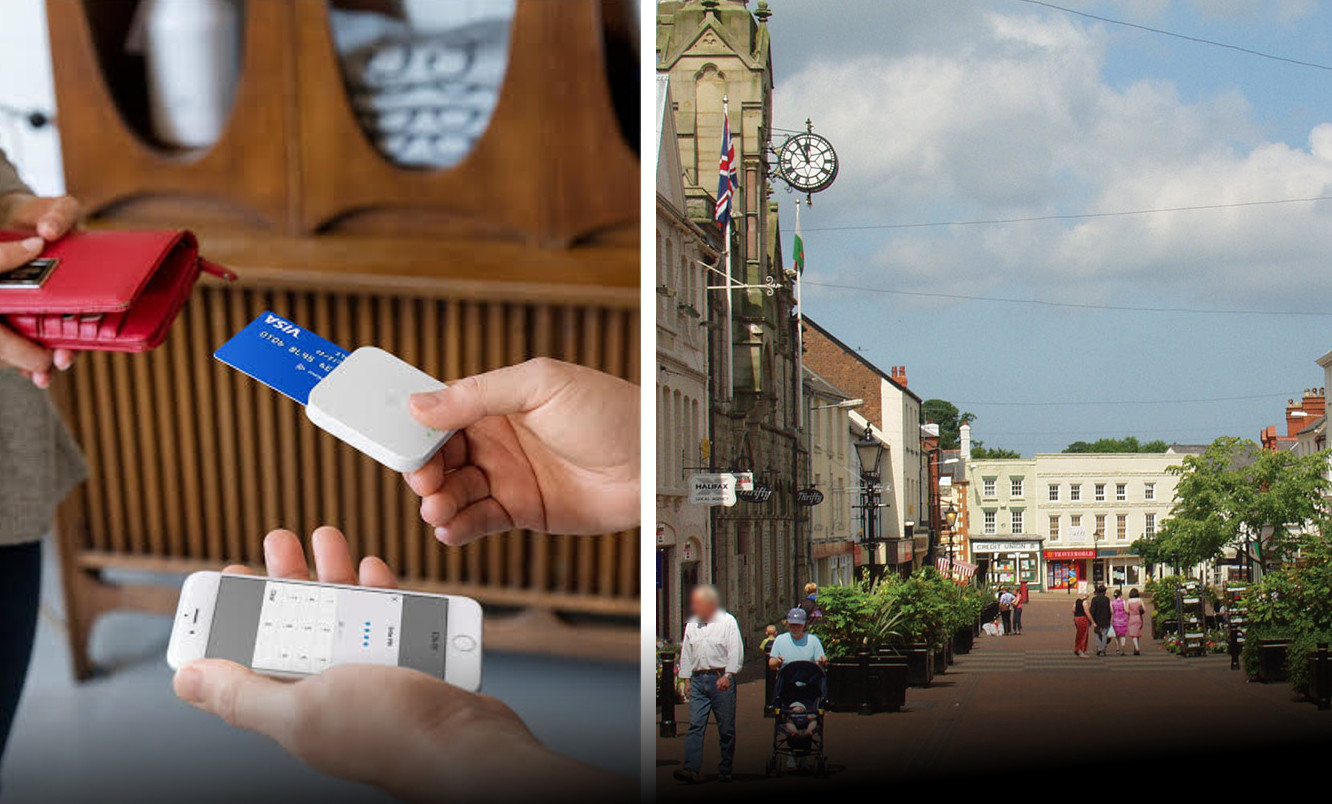 Flintshire town set to go cashless for Christmas with roll out of Twitter founder's new payment system