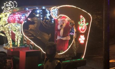 Santa's Sleigh all set for the streets of Saltney this evening