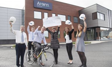 Deeside building firm rises over £7000 for Hope House childrens hospice