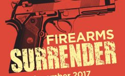 Surrender firearms during national campaign