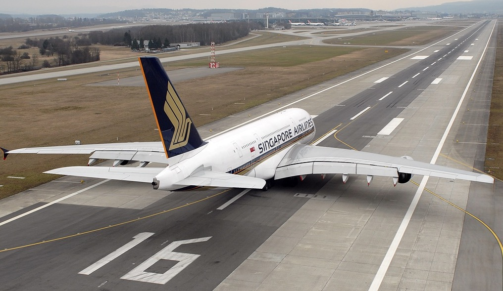 The first Airbus A380 to exit service will land at a French airfield for storage today