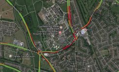 Traffic disruption in Chester due to an earlier road closure