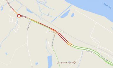 A548 in Oakenholt is back open following earlier collision
