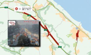 A55 Halkyn heading towards Deeside all lanes back open