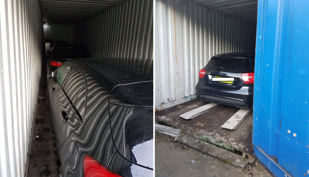 Police recover high value stolen cars from locked shipping container in Holywell