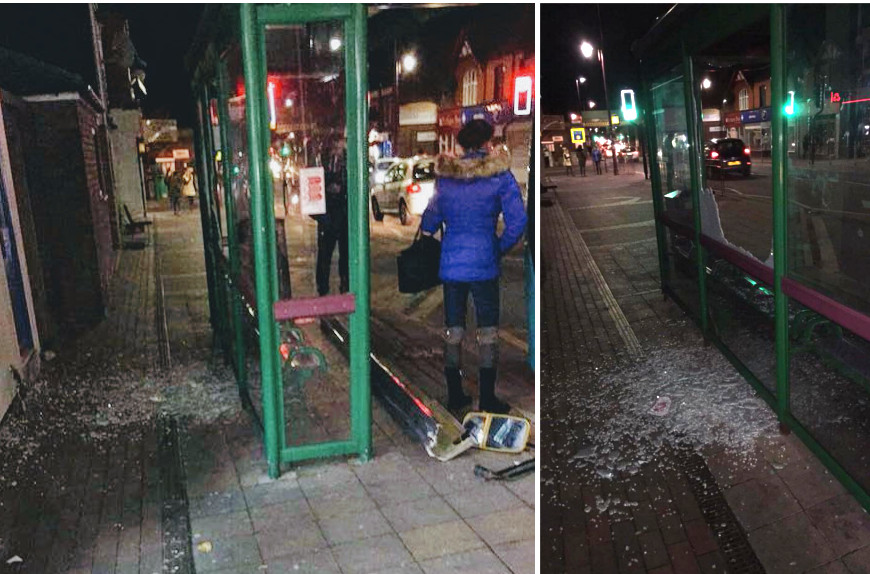 Shotton bus shelter partially destroyed after a driver misjudges bus stop