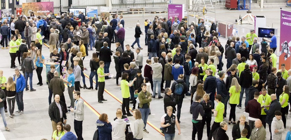 Over 1500 budding high flyers attend Airbus careers open day at Broughton.