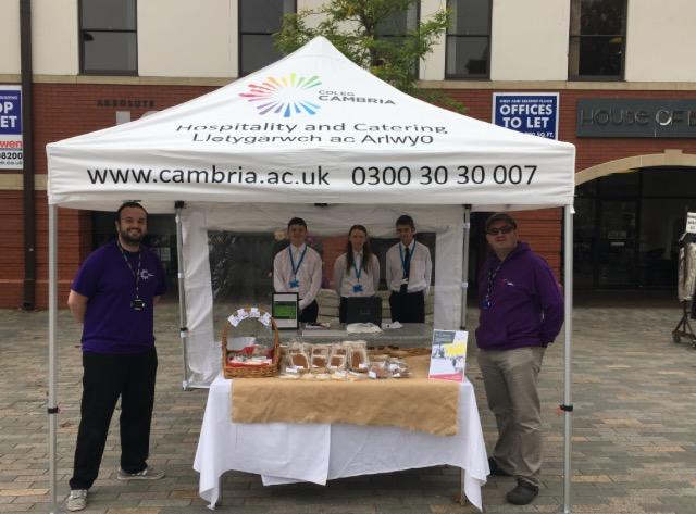 Market Venture for Coleg Cambria Students