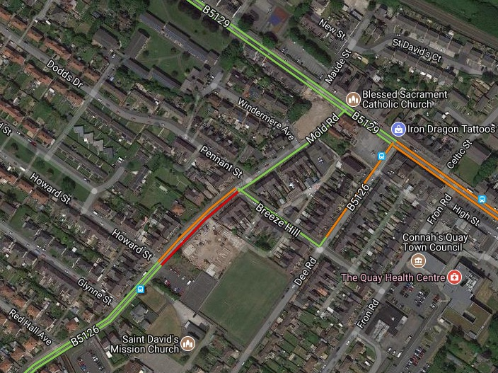 Ambulance service responding to a medical emergency in Connah's Quay