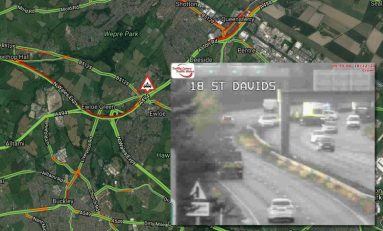Three people including a young girl taken to hospital following a crash on the A55 in Ewloe