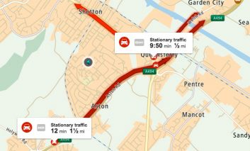 Deeside traffic update: A494 eastbound lane closures due to be lifted by 1pm