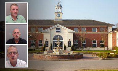 Three burglars who targeted hotels including St David Park in Ewloe jailed