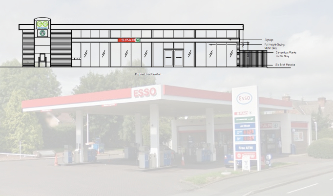 Redeveloped Connahs Quay Petrol Station And New Drive Thru