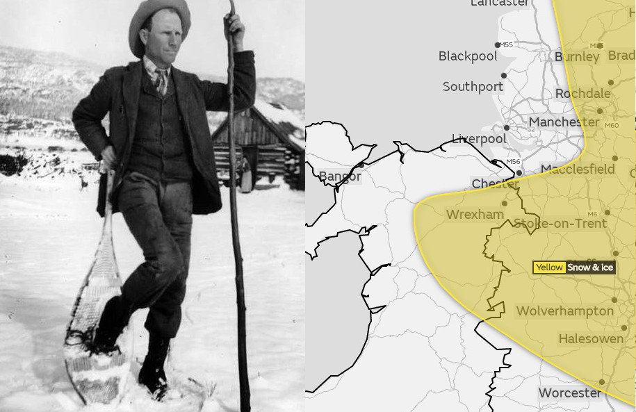 Met Office issues warning over possible snow and ice in Flintshire on Sunday Snow most likely on higher ground