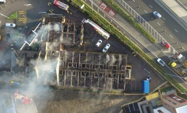 Fire service say Gateway to Wales fire cause likely to have been 'electrical'