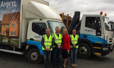 Deeside based builder steps in to help charity collect Christmas trees for recycling