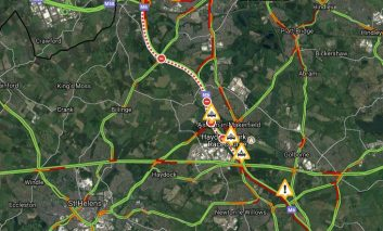 Long delays on the M6 Northbound from Haydock following fatal collision