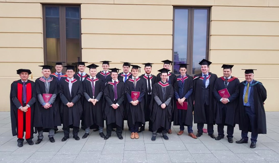 Degree of success for Airbus high flyers 14 Airbus apprentices graduate from Swansea University