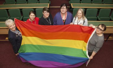 Flintshire County Council raises rainbow flag in support of LGBT history month