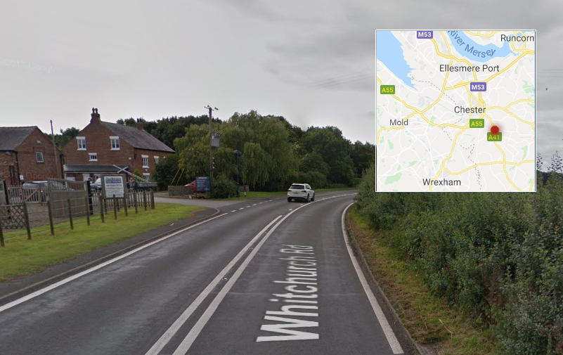 Police appeal following a collision in Cheshire which killed two men and left a woman from Flintshire with serious injuries Crash happened on the A41 Whitchurch Road on Wednesday