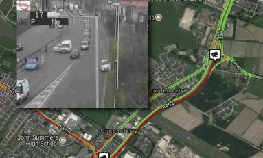 All lanes back open on the A494 at Queensferry following earlier collision