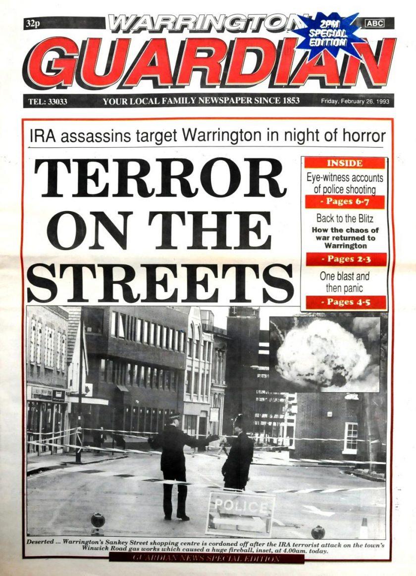 25th anniversary of Warrington bombing - police boss calls