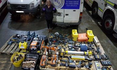 Power tools worth thousands of pounds recovered after gang of suspected thieves arrested in Flintshire