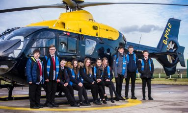 Flintshire youngsters go behind the scenes of the aerospace industry