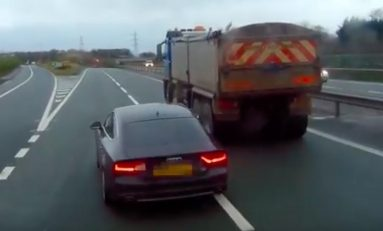 Dangerous M56 driver handed suspended prison sentence thanks to dashcam footage.