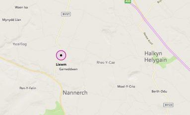 Man arrested after van crashed in Flintshire village