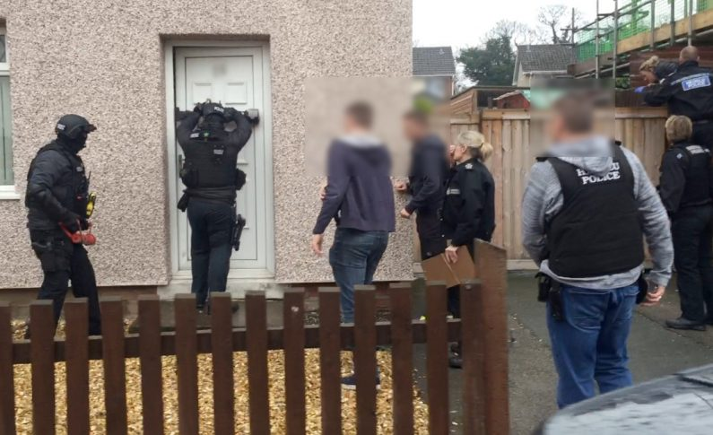 Large scale police operation sees number of drugs raids in Deeside