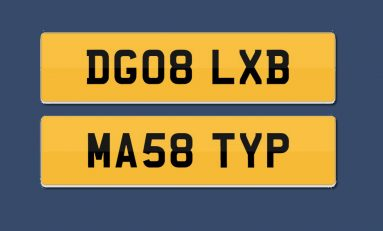 Police want your help locating a vehicle which could be fitted with either of these stolen number plates