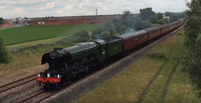 Two chances to see the Flying Scotsman steam through Deeside on Saturday