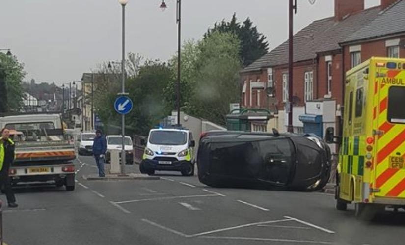 Shotton High Street back open following earlier overturned