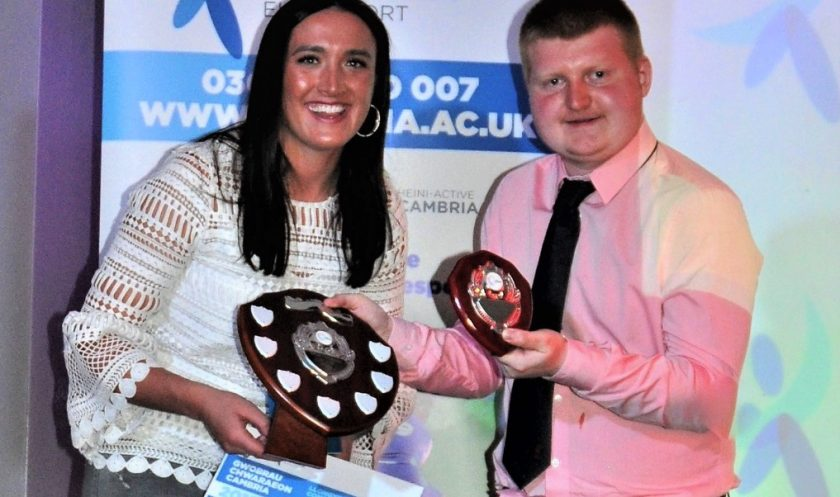 World champion and Special Olympics star among winners at inaugural Coleg Cambria Sports Awards