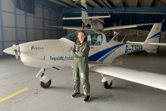 In March 2019, CWO Forde undertook the Air Cadet Pilot Scheme flying scholarship at Tayside Aviation, Dundee, learning to fly in an Aquila 211