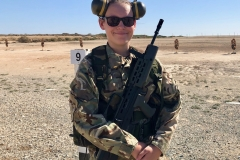 Taking part in marksmanship training as part of a camp to RAF Akrotiri, Cyprus, in Autumn 2018